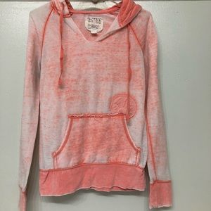 Billabong distressed look pullover hoodie M